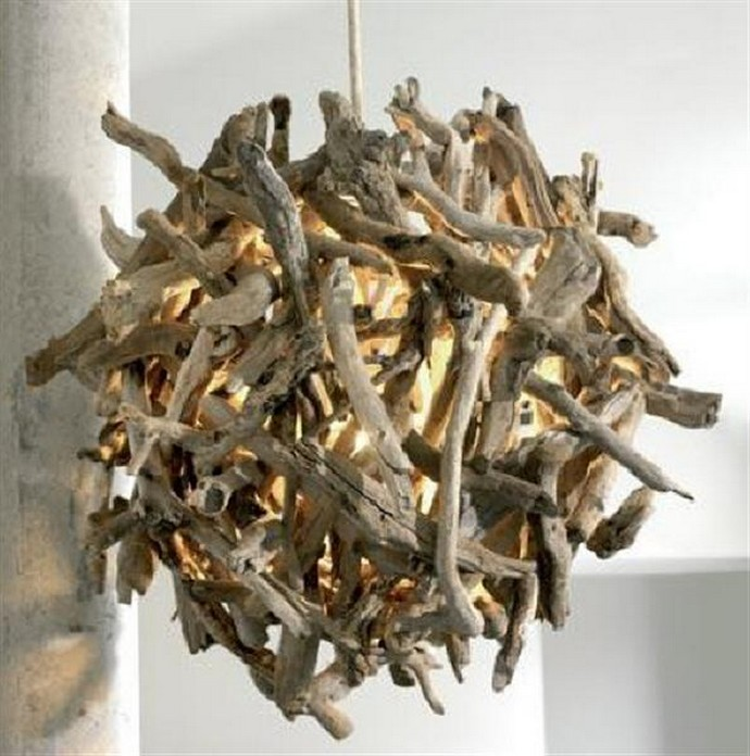 Driftwood Chandelier Idea