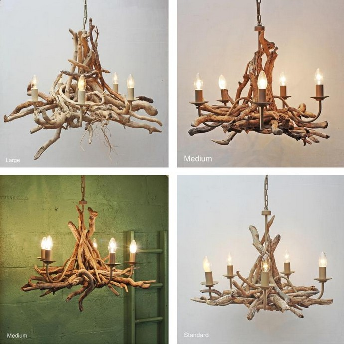 Driftwood Chandelier Ideas
