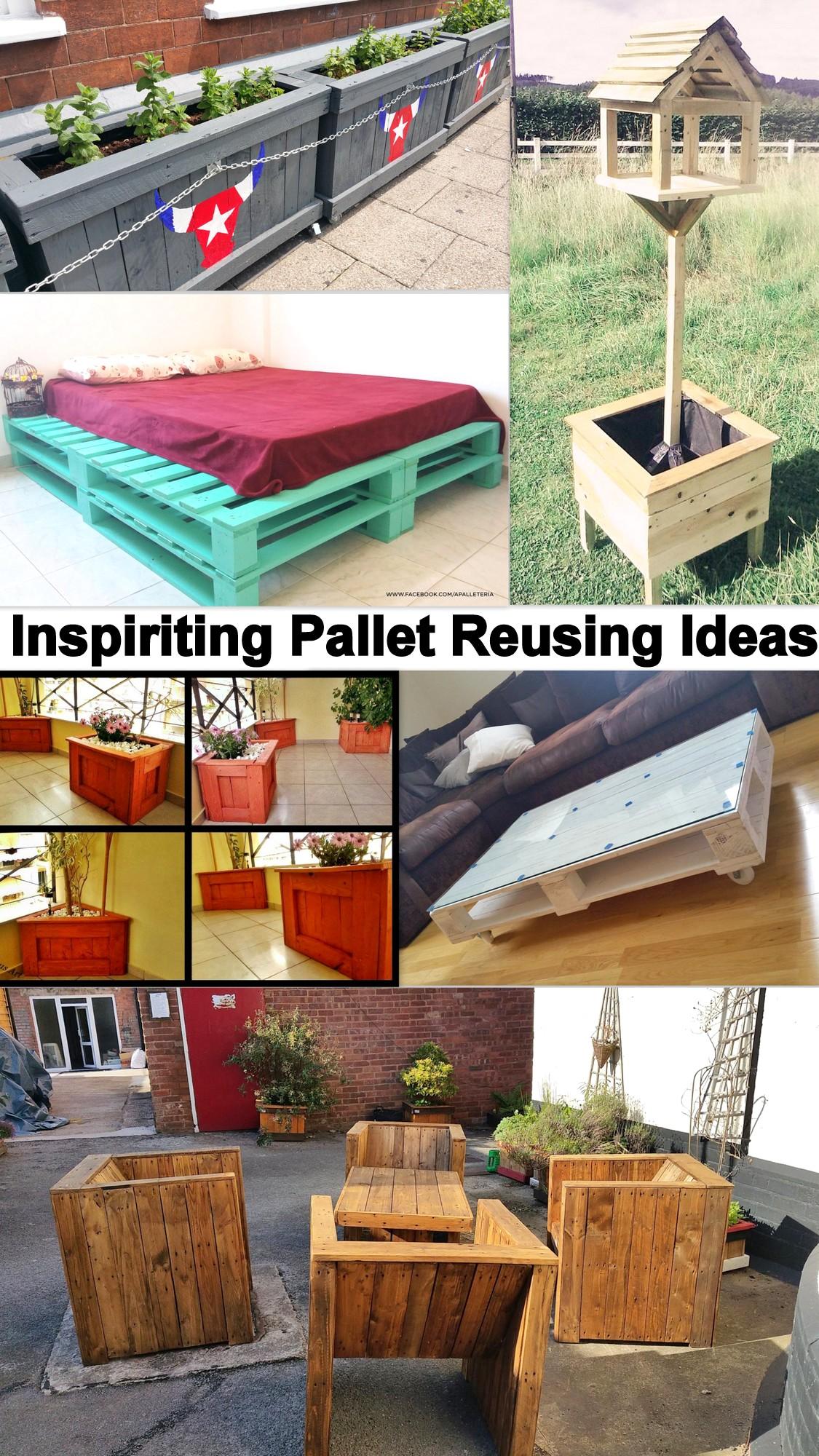 Inspiriting Pallet Reusing Ideas