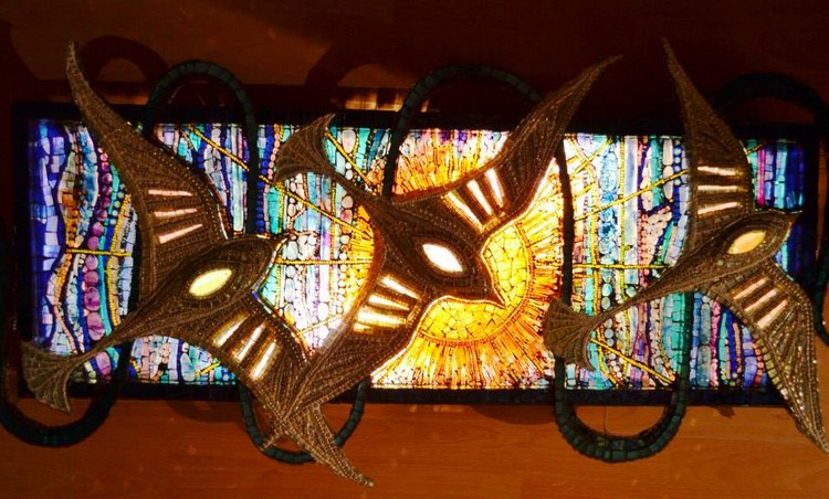 Mosaic, 'light box', sculpture