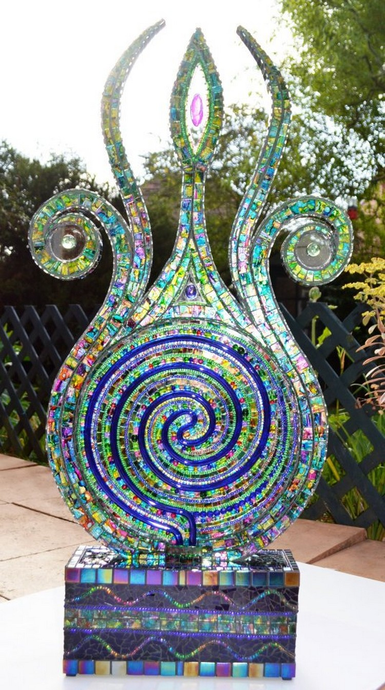 Recycled Material Mosaic Illuminations