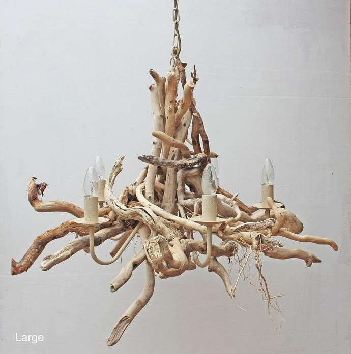 Scrap Driftwood Chandelier