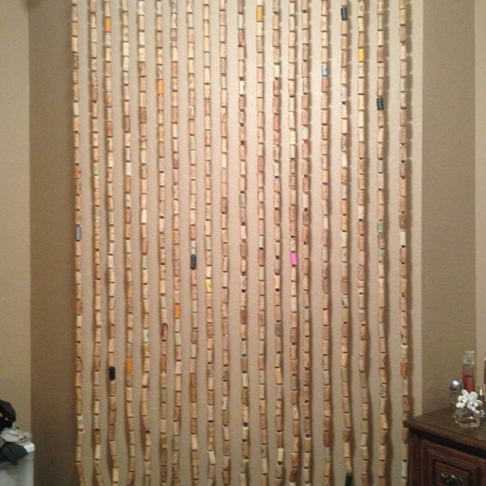 Wine Corks Curtain Idea