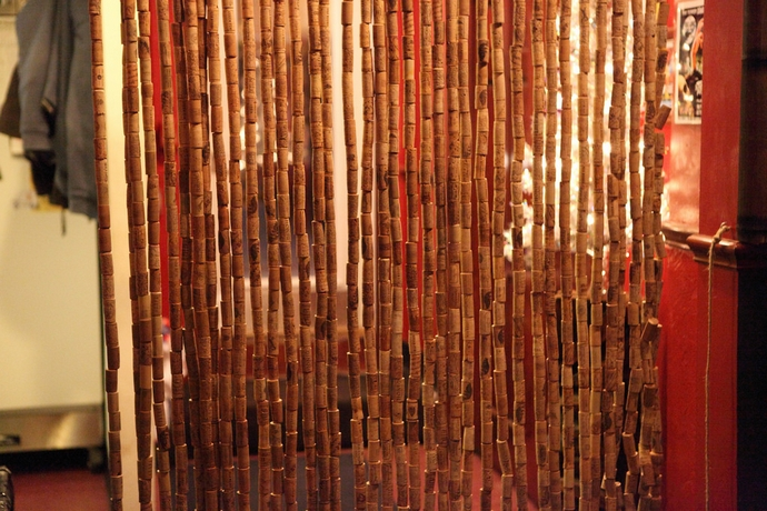 Wine Corks Recycled Curtains