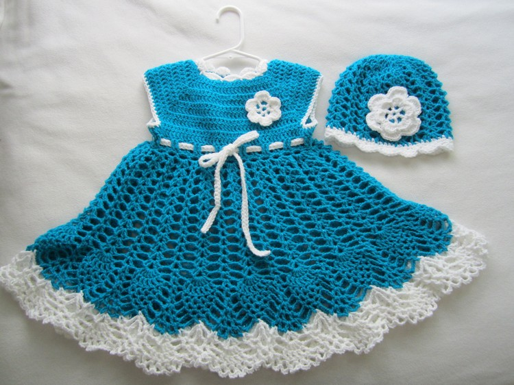 baby dress with crochet