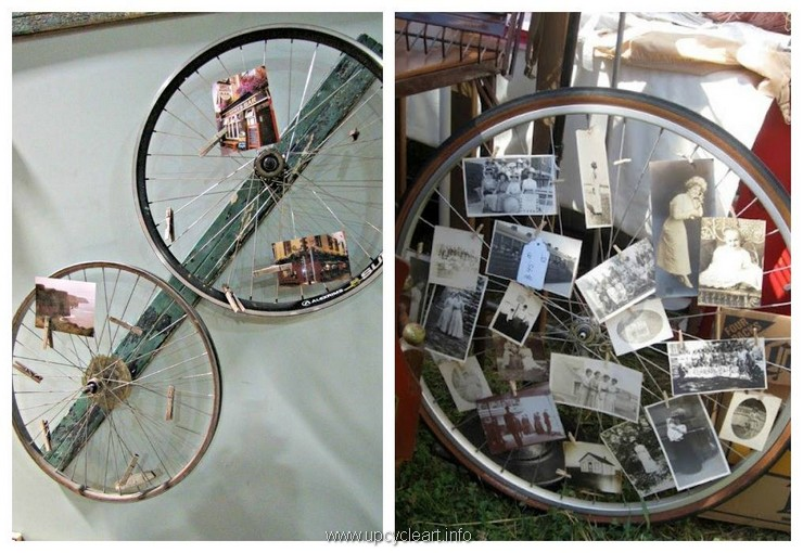 bicycle wheel recycling idea