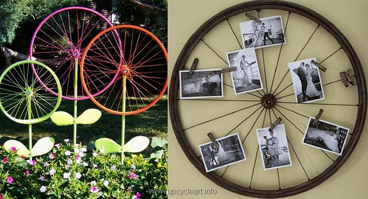 Bicycle Wheels Recycling Ideas Upcycle Art
