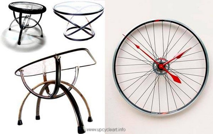 bicycle wheel upcycled