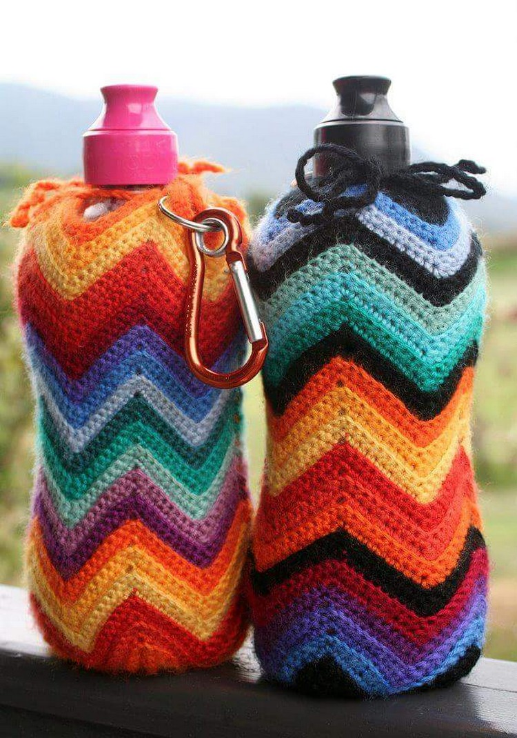 crochet bottle covers