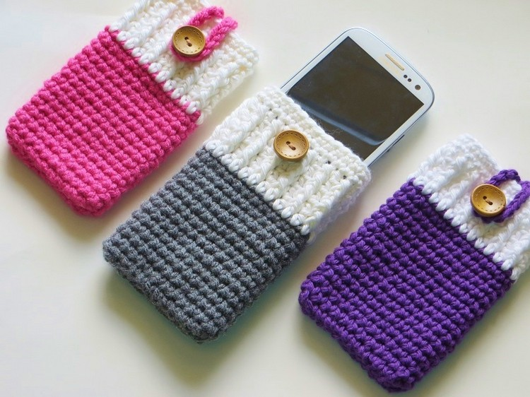 crochet cell covers