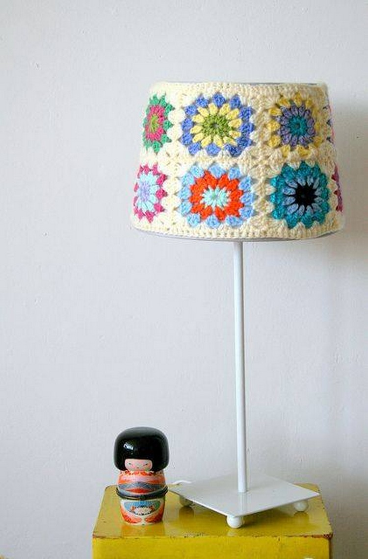crochet covered lamp
