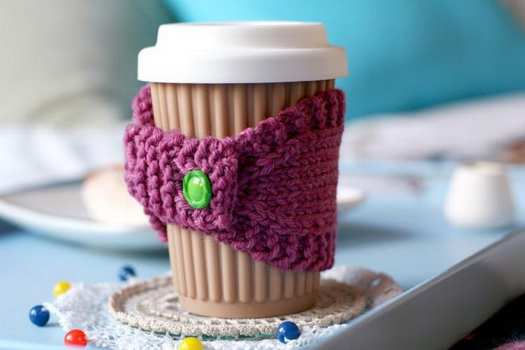 crochet cup cover