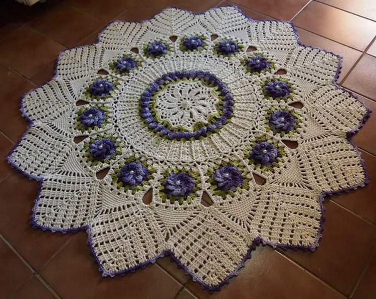 crochet floor art