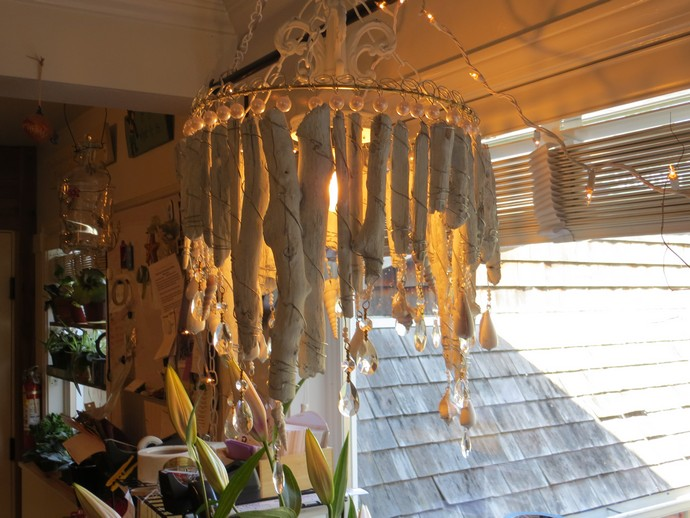 cute driftwood chandelier