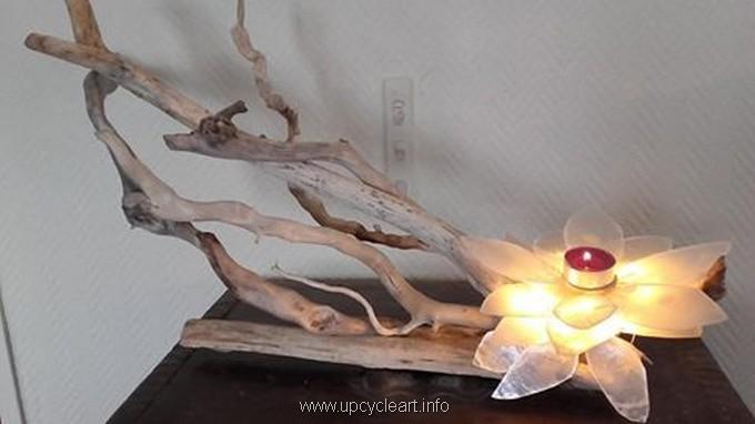 cute driftwood lamp art