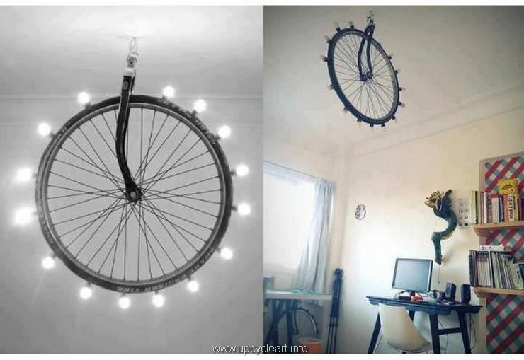 decor crafts with bicycle wheels