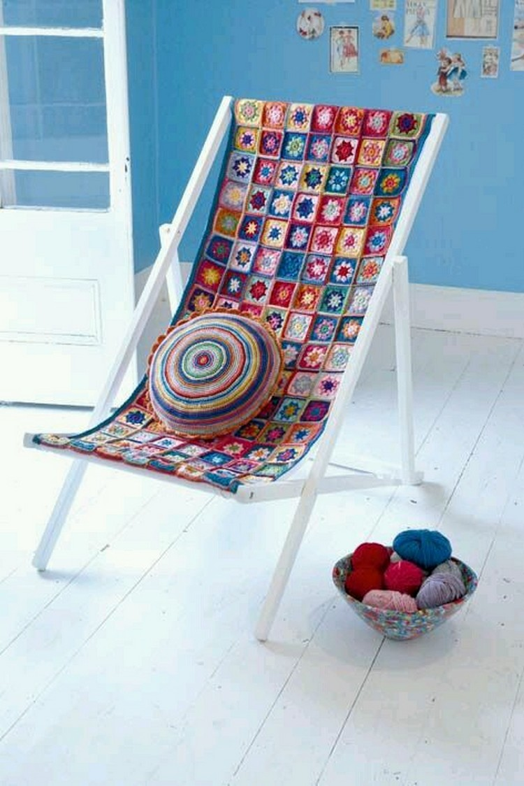 decor furniture with crochet art