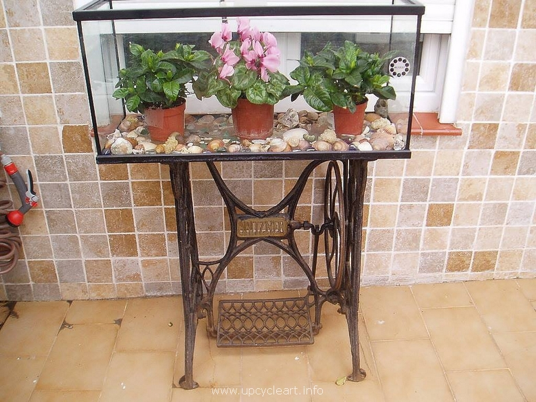 decorated recycled sewing machine