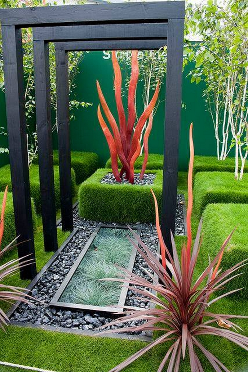 decoration of patio garden