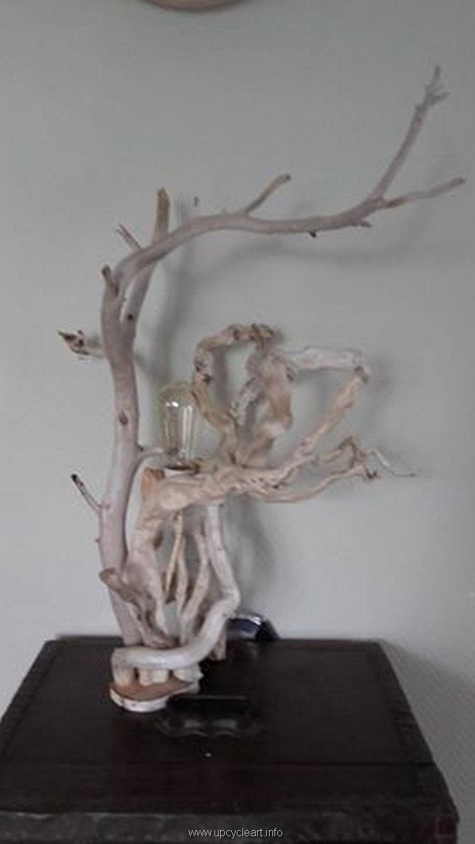 diy driftwood lamp 1