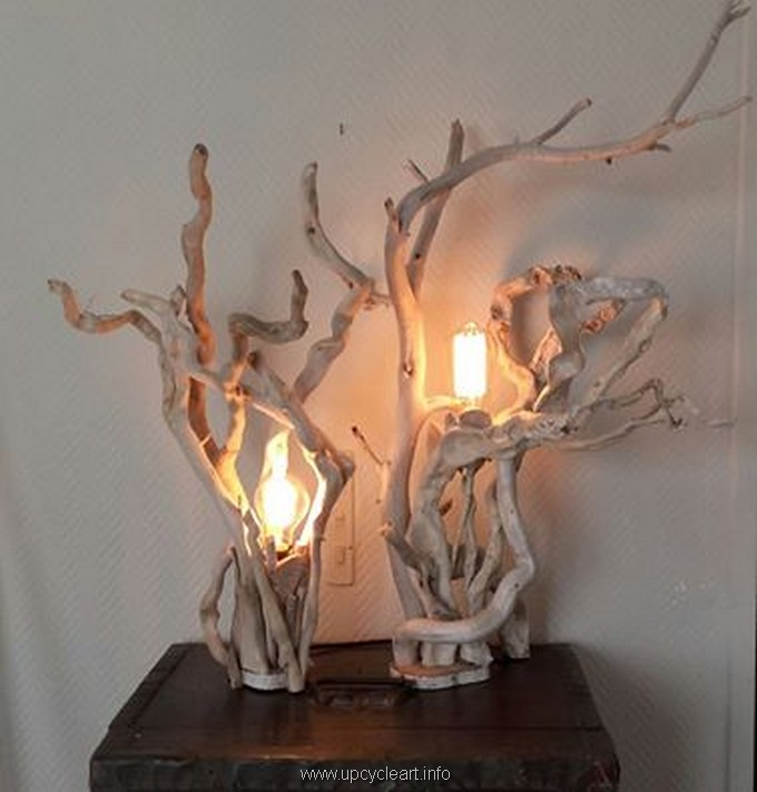 diy driftwood lamp project