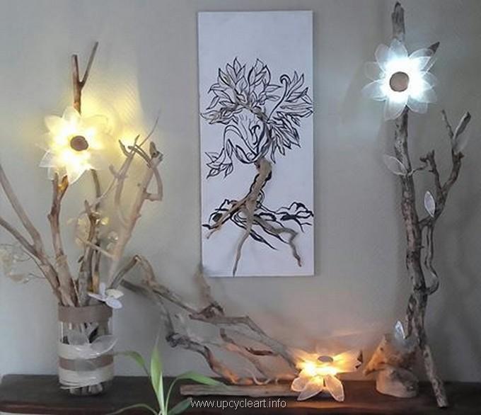 diy driftwood lamp wall decor