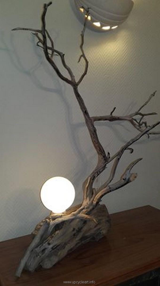 drift wood lamping
