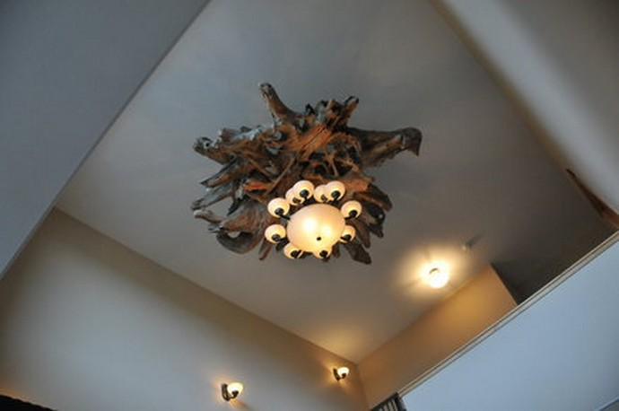 driftwood chandelier craft