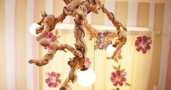 driftwood chandelier crafting