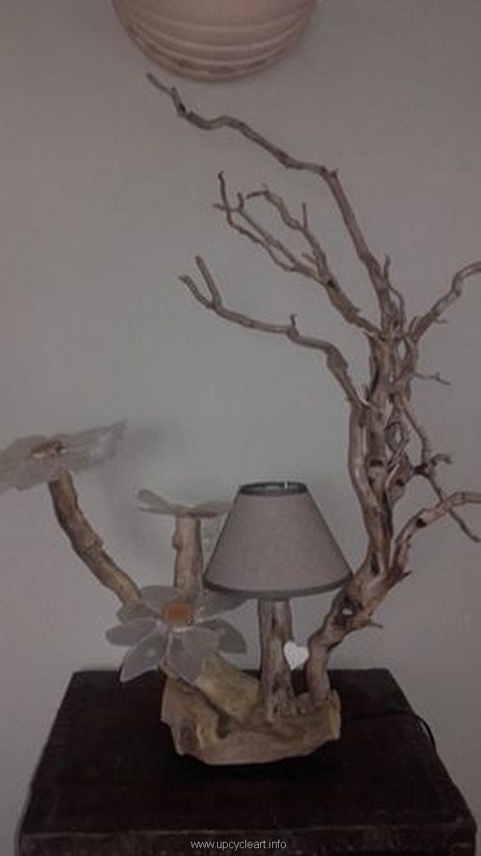 driftwood lamp art