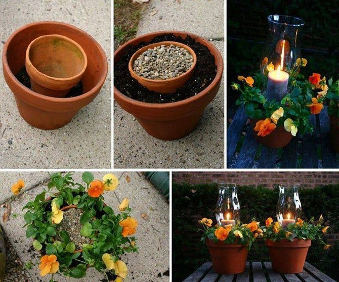 garden decor with pots