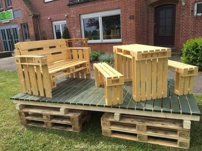 garden pallet wood furniture