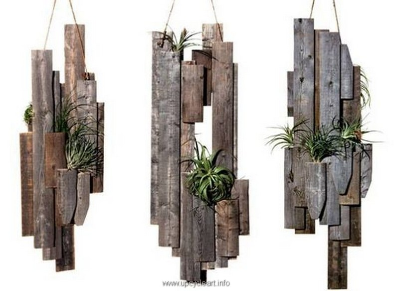 hanging pallet planters