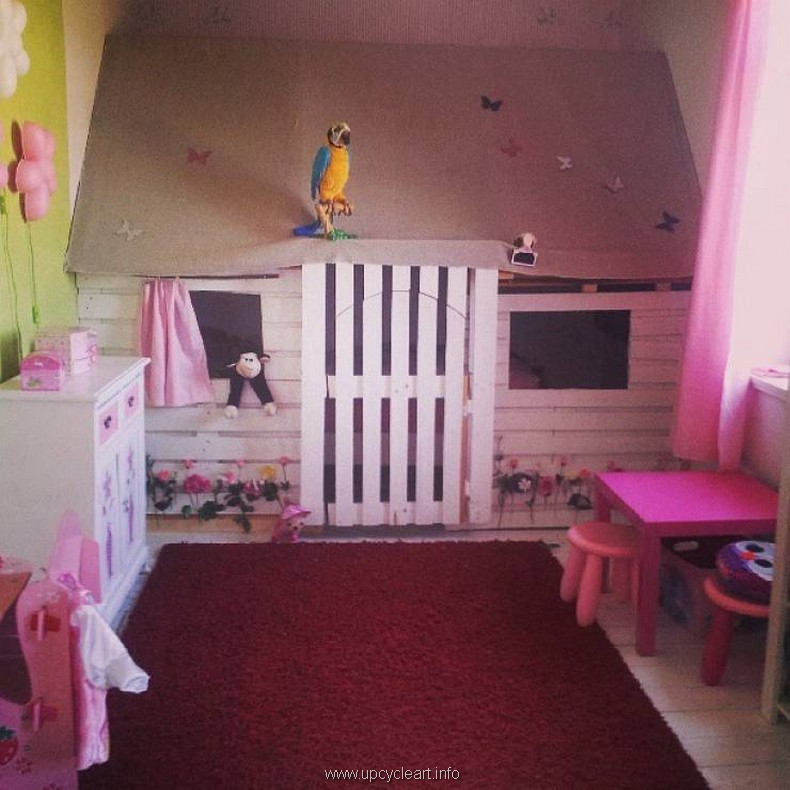kids room with pallets