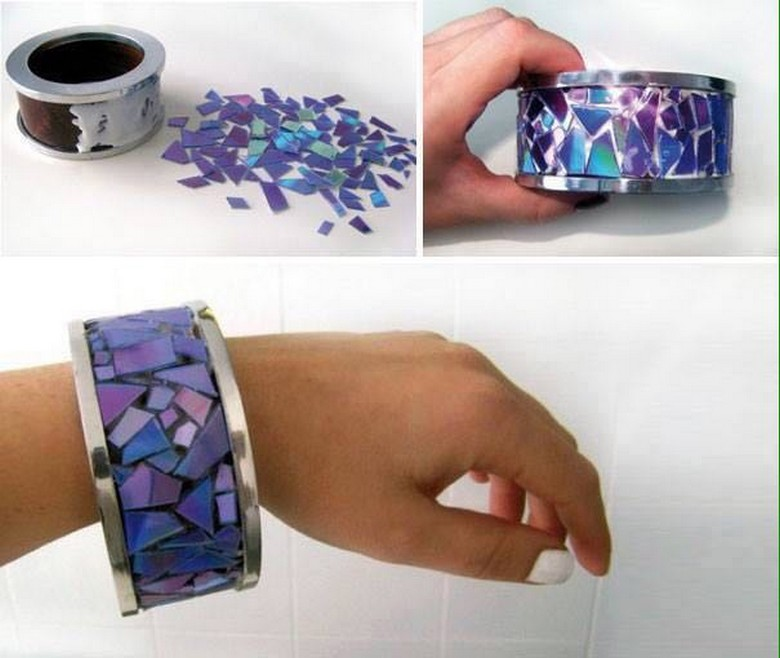 old cds recycled jewelry