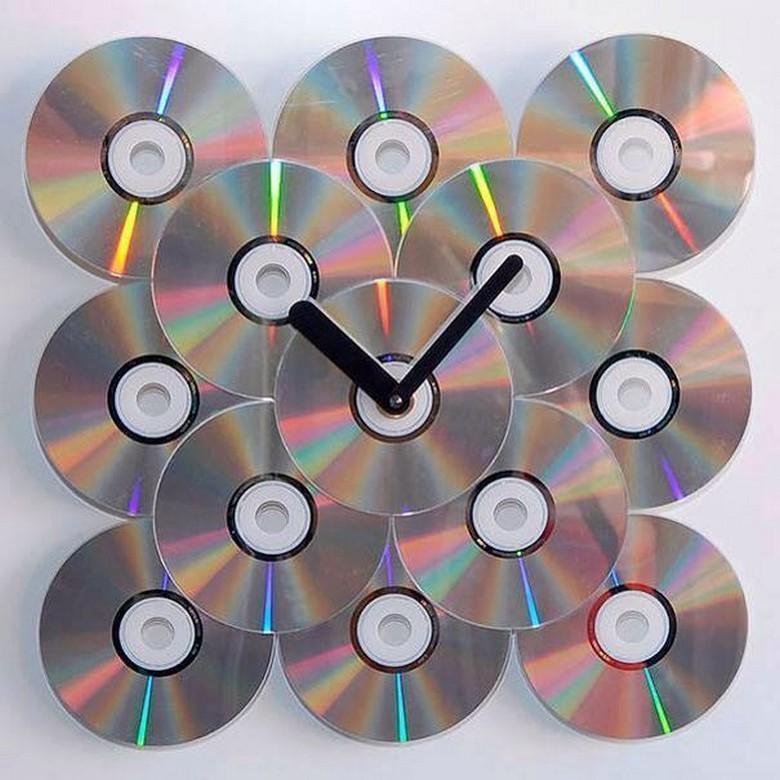 old cds recycled wall craft