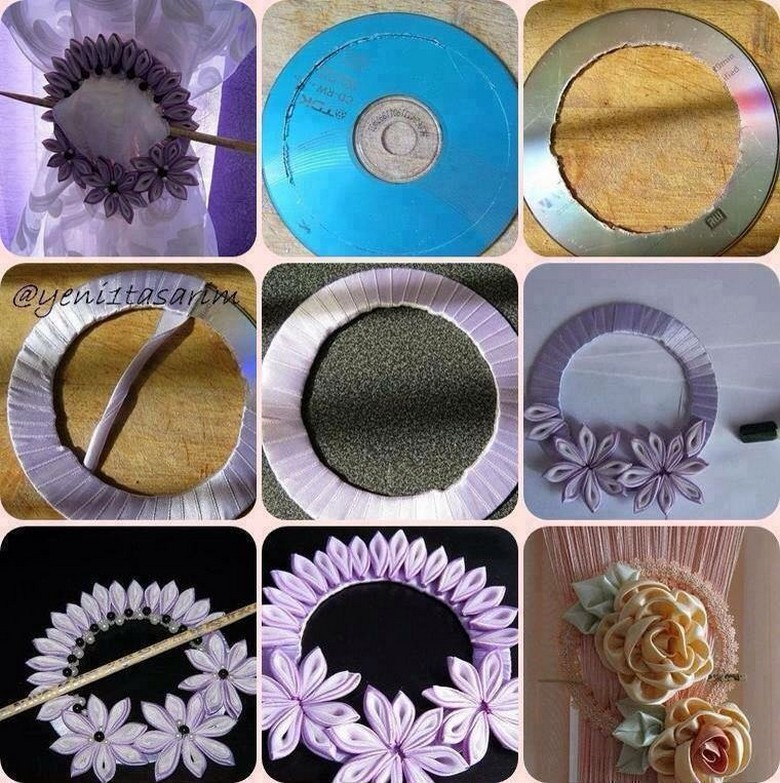 old cds wreath craft