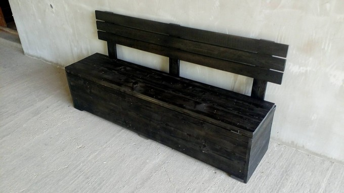 pallet bench cum chest