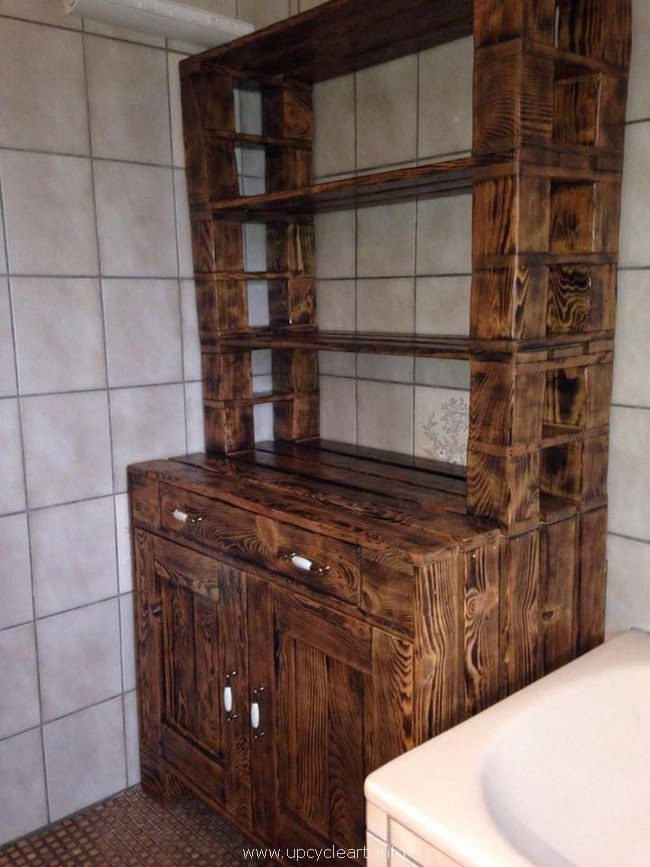 pallet cabinet for washroom