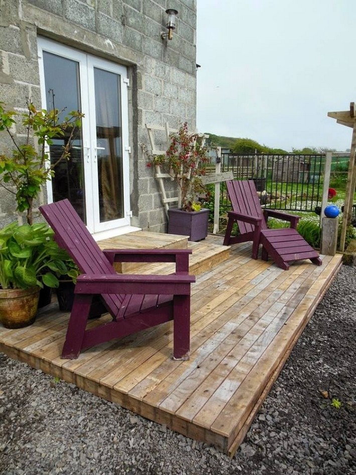 pallet deck and chairs