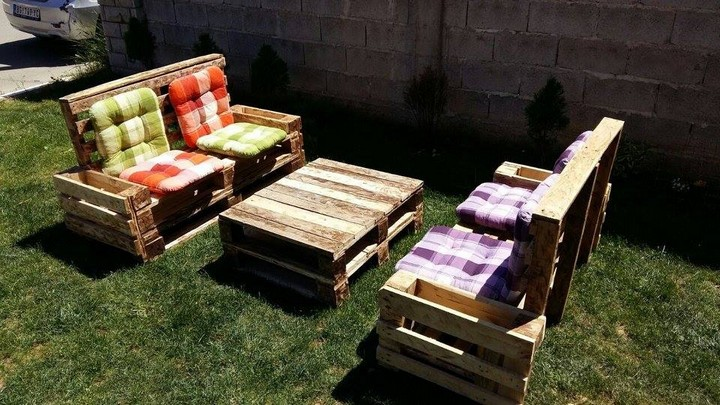 pallet furniture for garden