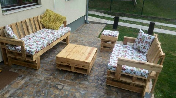 pallet garden furniture ideas