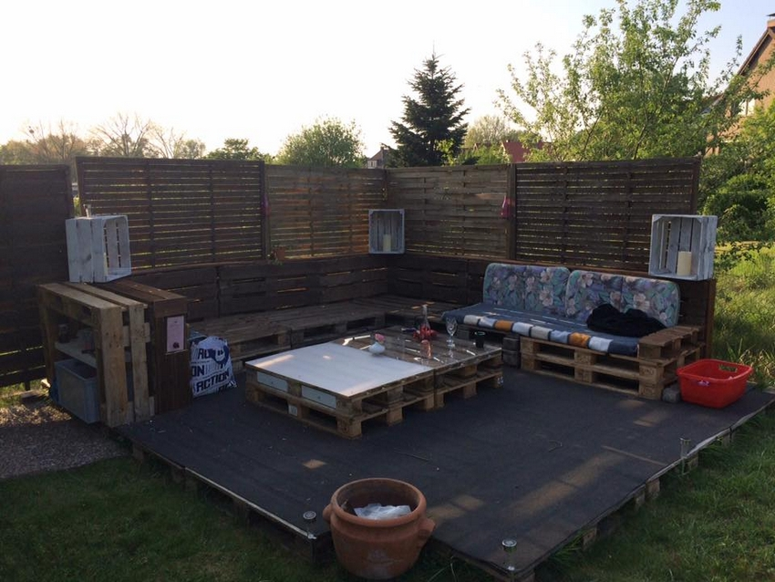 pallet patio lounge