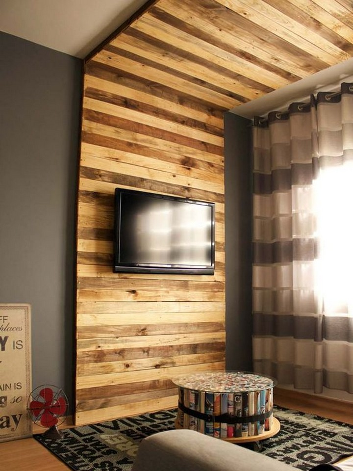 pallet wall panelling for TV