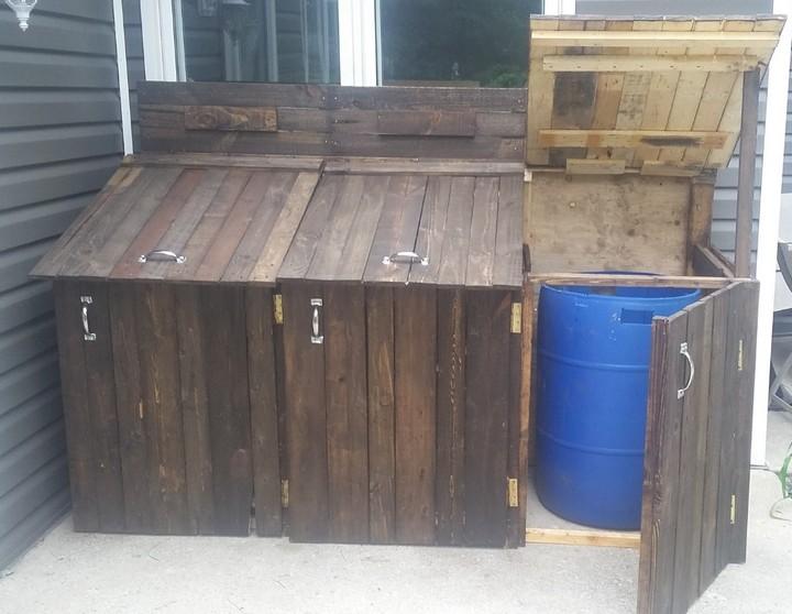 pallet waste bins