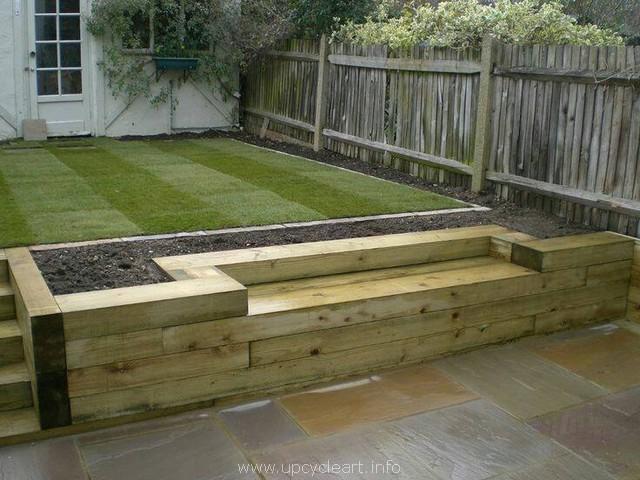 pallet works in garden