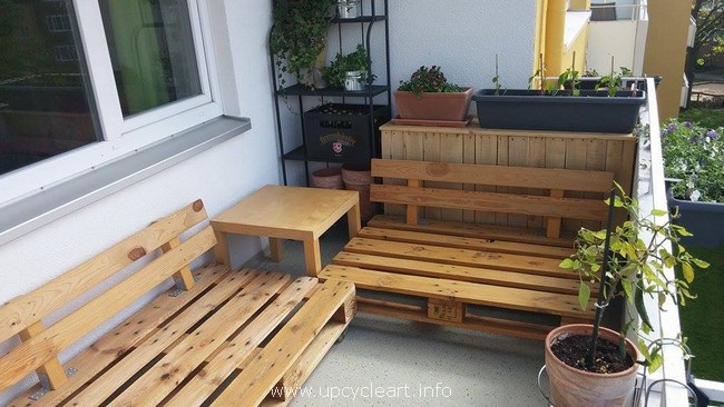 patio pallet wooden furniture