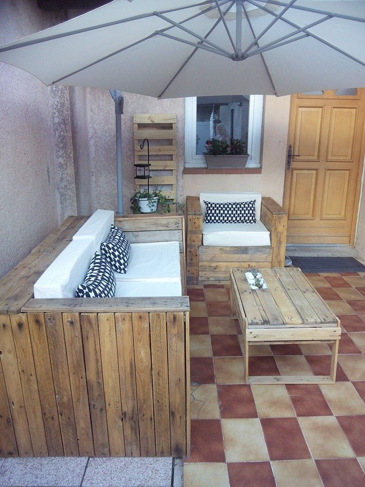 patio recycled wood pallet furntiure