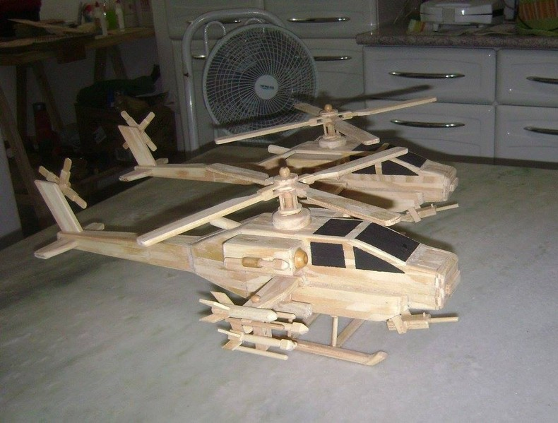 popsicle sticks helicopter