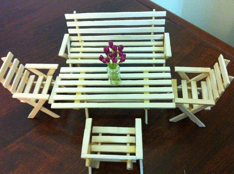 popsicle sticks kids furniture plan